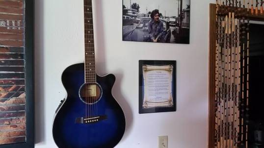 This is where my Core Values list is currently displayed.  Pictured here is my guitar and a picture of my father, circa 1973.
